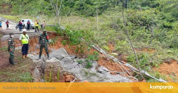 Longsor di Perbatasan, Kementerian PUPR Bangun Jalan Darurat